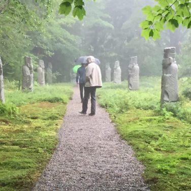 AARockefeller Garden VKLarson Visitors on the Path
