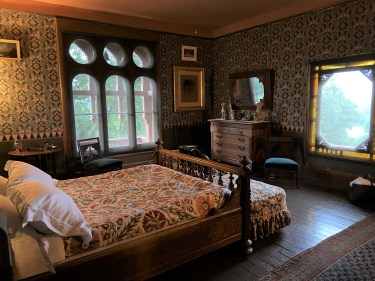 Even the bedrooms at Olana have artfully framed views and plenty of decorative treasures; some have wallpapers selected by Church.