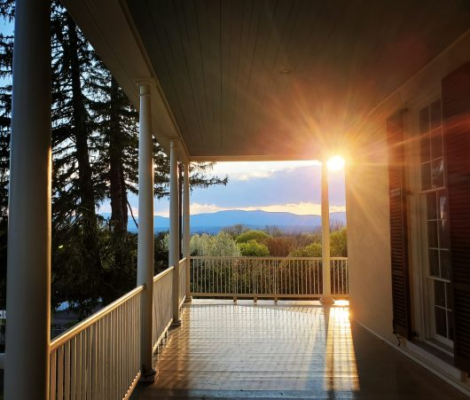 Thomas Cole could see the Catskill Mountains he loved from the porch of his family's Federal-style home. Photo by Albert J. Gnidica, courtesy of Thomas Cole National Historic Site