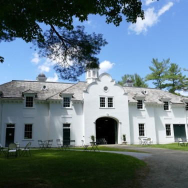 The sprawling Stable held the Whartons' carriages and cars; today it provides an orientation to The Mount and space for cultural programs. Photo by Gail Welter, courtesy of The Mount