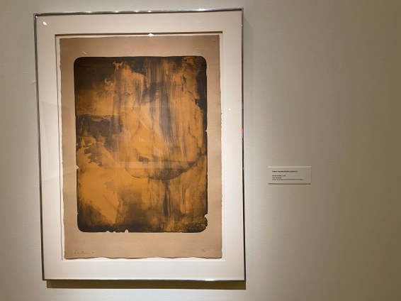 Bronze Smoke is a 1978 color lithograph by Helen Frankenthaler, an abstract expressionist artist whose work was part of the 2020/20+ Women @ NBMAA exhibitions.