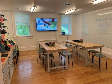 Children and adults can get hands-on with art in the Stanley Black & Decker Makerspace in the renovated Landers House.