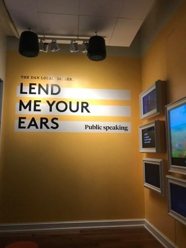 Public Speaking Exhibit at Planet Word by Corinna Lothar