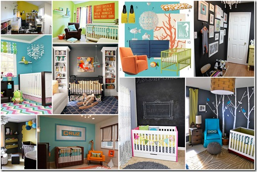 bright and bold nursery ideas
