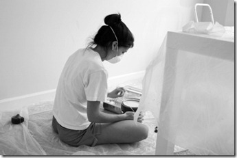 painting pregnant