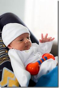 newborn playtime