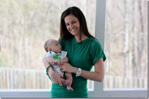 mom and baby st patricks day