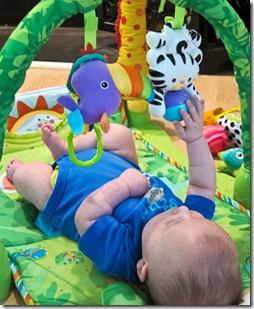 baby finds hands