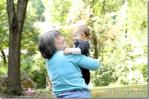 baby and his grandma