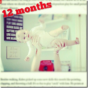 12 month old baby day in life