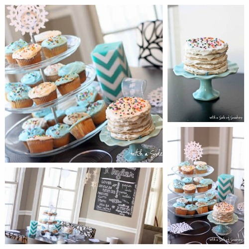 birthday cupcake display