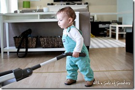 baby vacuuming
