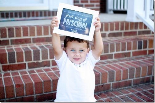 first day of preschool 2014