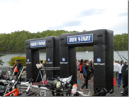 transition area for triathlon