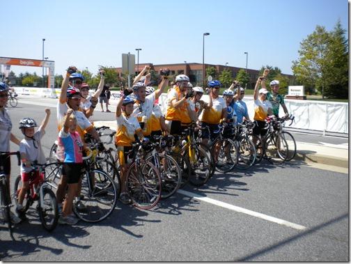 bike ride starting line