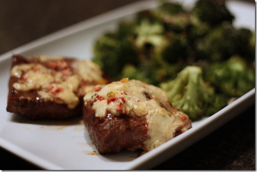 steaks and broccoli