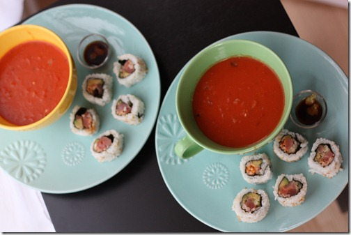 soup and sushi