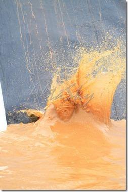 giant mud pit splash
