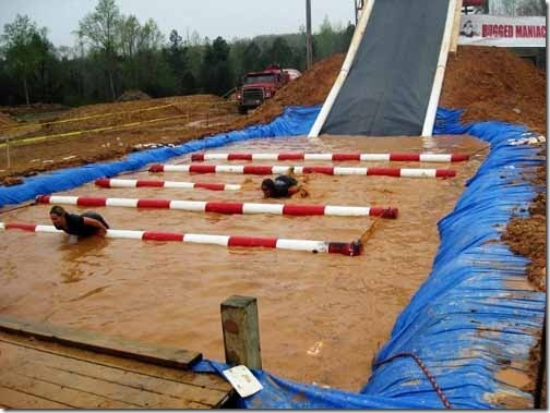 water pit at mud run