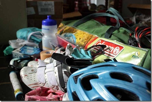packing for bike ride