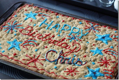 birthday chocolate chip cookie cake recipe