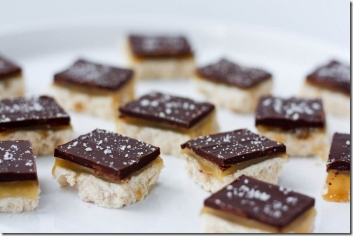 Salted Caramel Chocolate Shortbread