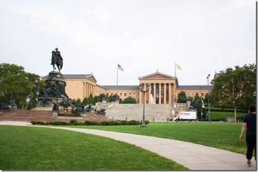 the rocky steps building
