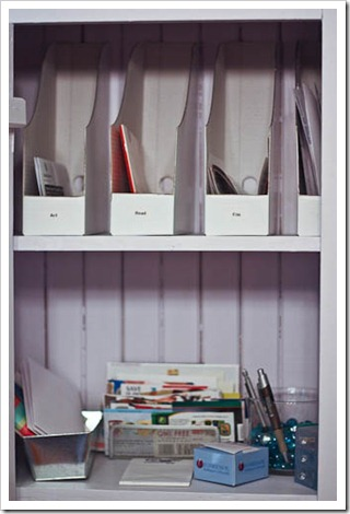 mail center for organizing paper clutter
