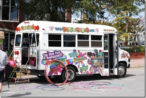 tie dye party bus