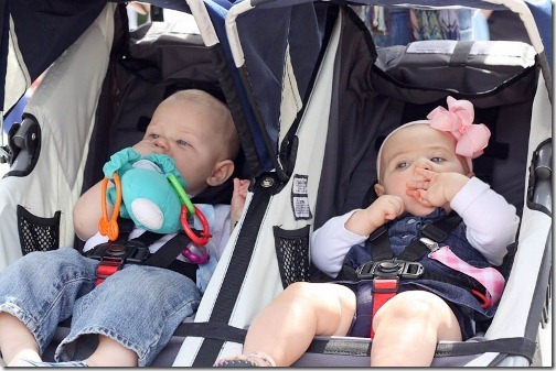 max and claire 8 months twins