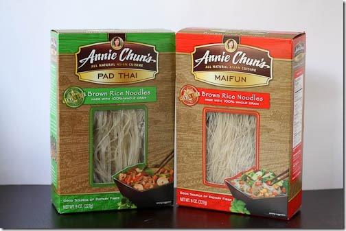 thai brown rice noodles annie chun's