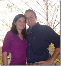 chris & heather christmas 2007