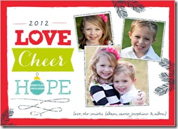 love cheer hope christmas cards from shutterfly