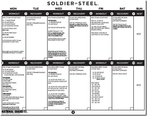 soldier of steel training plan