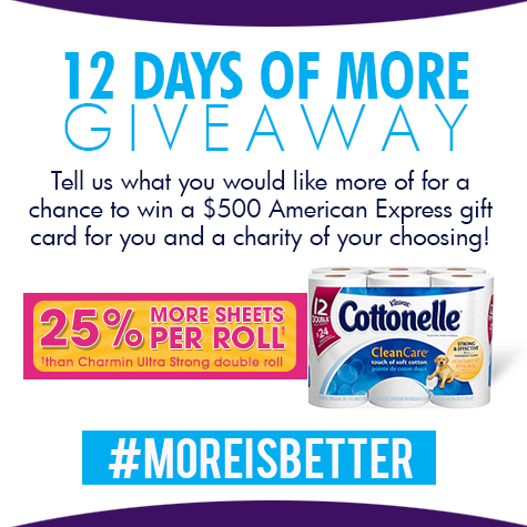 more is better giveaway