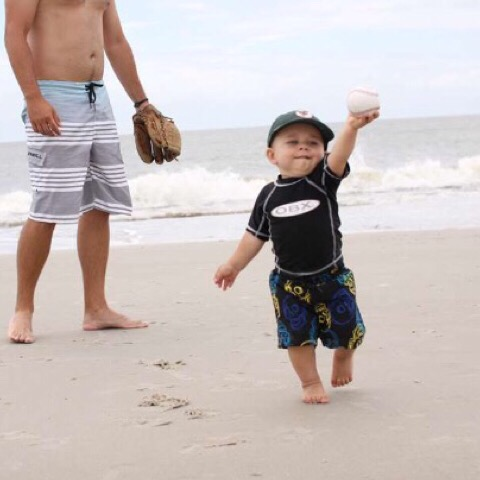 baseball on the beach