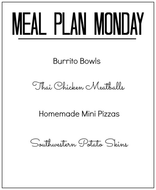 meal plan monday dinner ideas