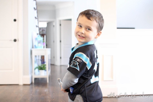 three year old panthers fan