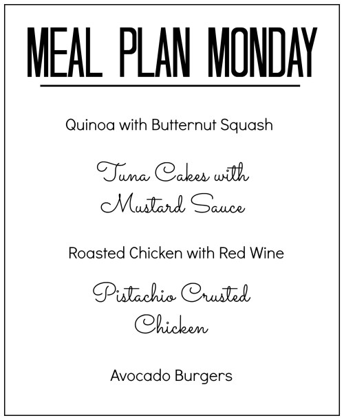 meal plan monday november