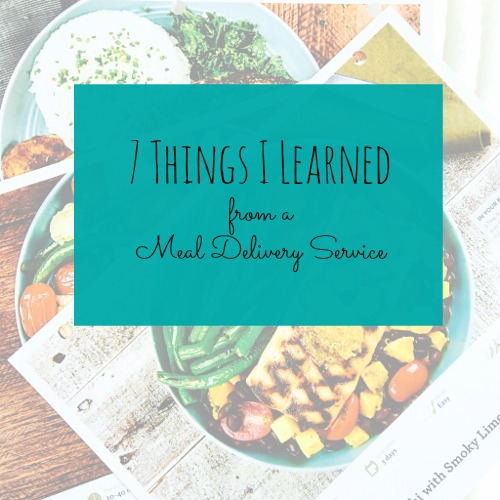 meal delivery service what i learned