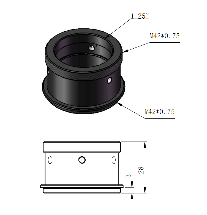 "T2-1.25"" Holder Diagram"