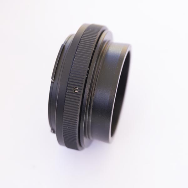 "2 "" Nosepiece attached to EOS T adapter"