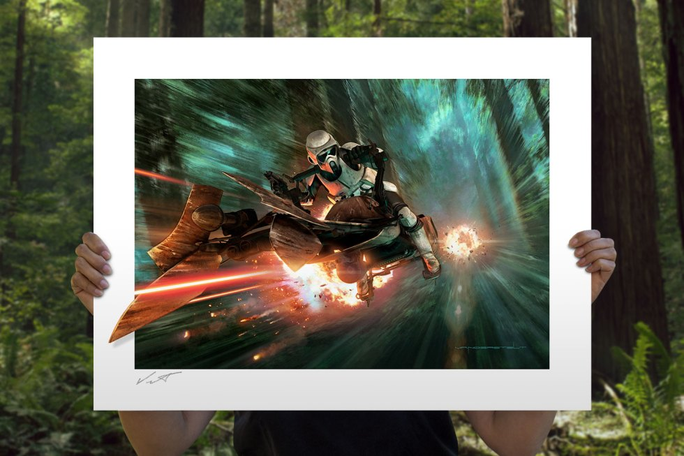 Endor Chase Art Print feature image