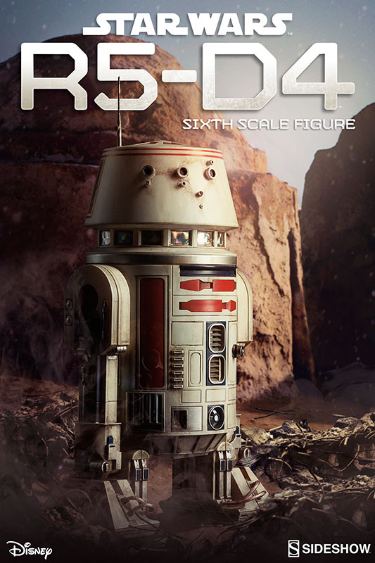 Star Wars R5 D4 Sixth Scale Figure By Sideshow
