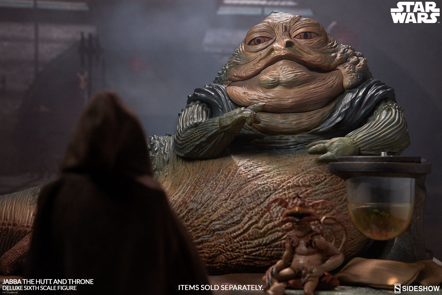 Star Wars Jabba The Hutt And Throne Deluxe Sixth Scale Figur