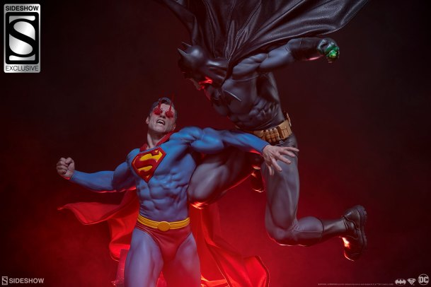 Superman Batman Diorama Sideshow Collectibles