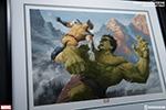 Hulk vs Wolverine Premium Art Print