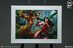 Wonder Woman vs Cheetah Premium Art Print