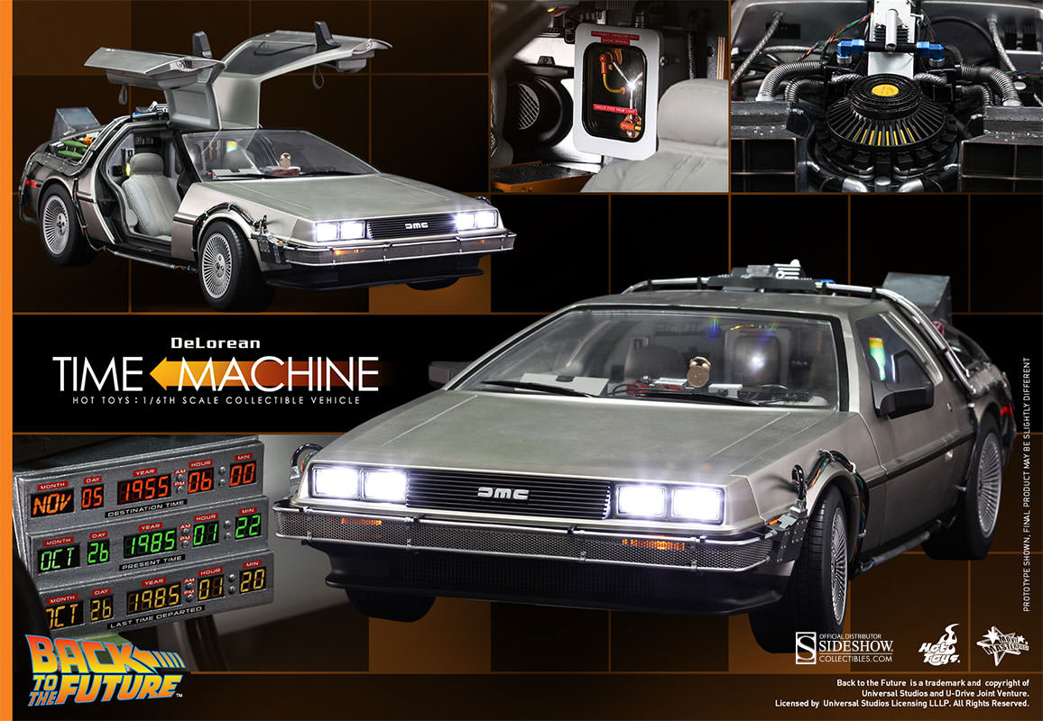 Back To The Future Delorean Sixth Scale Figure Related