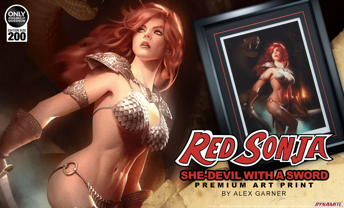 Red Sonja She-Devil with a Sword Premium Art Print